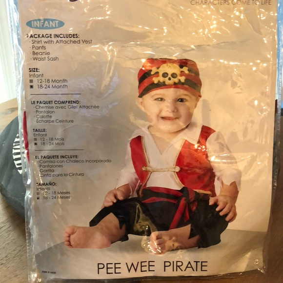 d6856fb36b1 Baby Pirate Halloween Costume